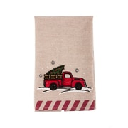 Gracie Oaks Embroidered Truck Christmas Dishcloth