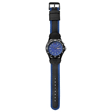 Dakota Men's Wristwatch With Leather/nylon Band, Blue, Men (2728-7)