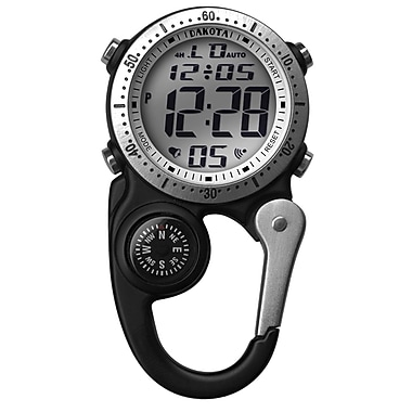 Dakota Digital Clip Watch With Compass, Black/Charcoal, Men (3086-3)