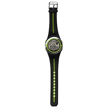 Dakota Plastic Sensor Watch (Heart Rate), Black/Charcoal, Unisex (3691-0)