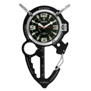 Dakota Multi Tool Clip Watch, Black/Charcoal, Men (3856-2)