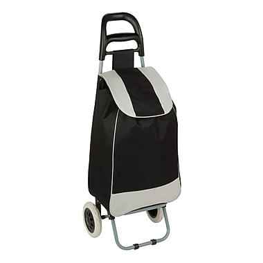 Honey-Can-Do Rolling Knapsack Bag Cart, Black/Grey (CRT-03570)