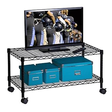 Honey-Can-Do Media Cart, Black (CRT-03937)