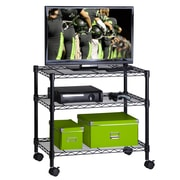 Honey-Can-Do Media Cart 3-Shelf, Black (CRT-04050)