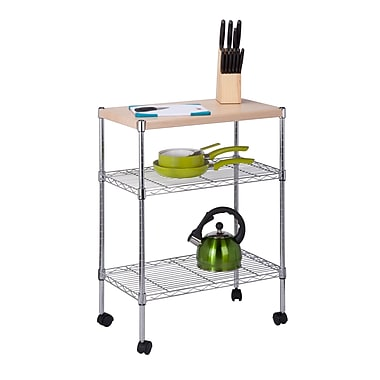 Honey-Can-Do Mini 3 Tier Dining Cart, Chrome (CRT-04346)