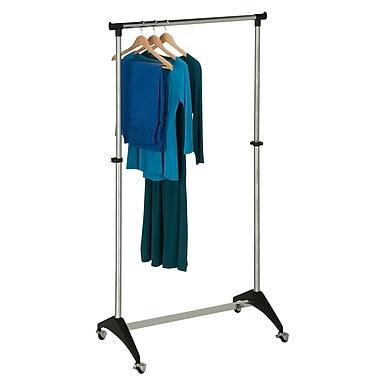 Honey-Can-Do Modern Adjustable Rolling Garment Rack Ball Casters , Chrome (GAR-03535)
