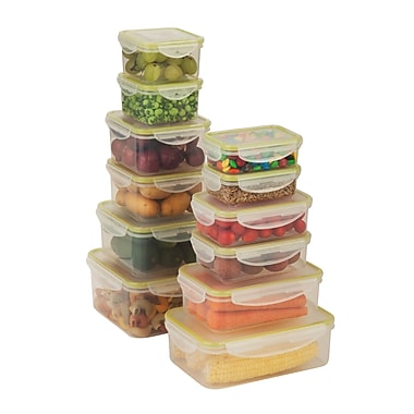 Honey-Can-Do 24-Piece Locking Food Container Set, Clear (KCH-03827)