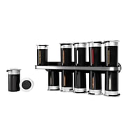 Honey-Can-Do Zero Gravity Wall-Mounted Spice Rack with 12 Canisters