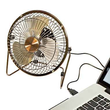 Honey-Can-Do USB Powered Desk Fan, Bronze (OFC-04475)