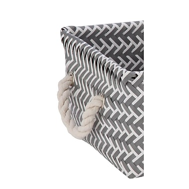 Honey-Can-Do Zig Zag Baskets, 3 Pieces, Gray (STO-06690)