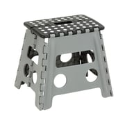 Honey-Can-Do Folding Step Stool, Black/Gray (TBL-02977)