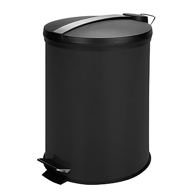 Honey-Can-Do Coloured Metal Trash Can, Black (TRS-05251)