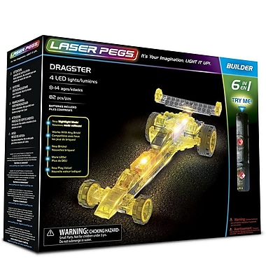 Laser Pegs ? Ensemble de construction de voitures d?accélération 6-en-1