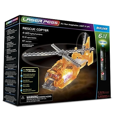 The Laser Pegs® Rescue Copter 6-in-1 Building Set