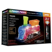 The Laser Pegs® Trains 3-in-1 Building Set