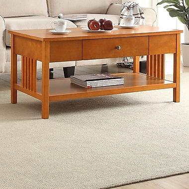Red Barrel Studio Bechtel Mission Style Wood Coffee Table; Oak