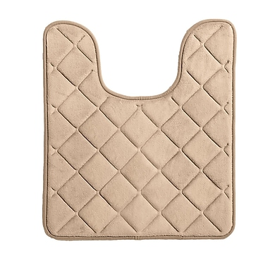 bluebellgray Diamonds Bath Rug; Khaki