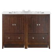Longshore Tides 48'' Double Bathroom Vanity Set; 4'' Centers