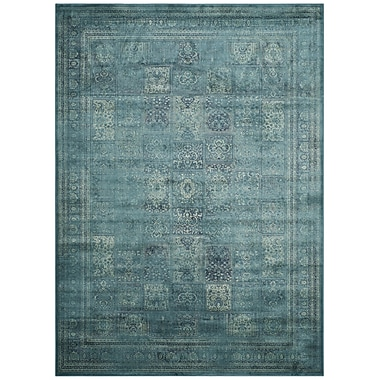 World Menagerie Todd Vintage Turquoise Area Rug; 3' x 5'