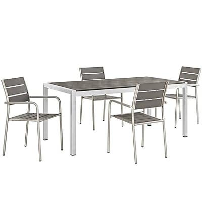 Orren Ellis Coline Outdoor Rectangular Patio Aluminum 5 Piece Dining Set