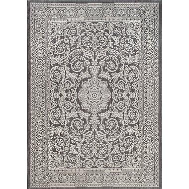 Thomas Paul Rugs Gray/Black Indoor/Outdoor Area Rug; 7'6'' x 10'9''