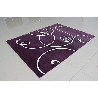 Orren Ellis Markel Purple Area Rug; 7'11'' x 9'10''