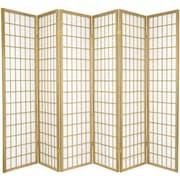 World Menagerie Trevor 70'' x 84'' Pane Shoji 6 Panel Room Divider; Gold