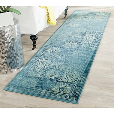 World Menagerie Todd Vintage Turquoise Area Rug; Runner 2'2'' x 8'