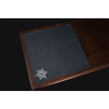 Xia Home Fashions Glisten Embroidered Snowflake Christmas Napkin (Set of 4); Gray