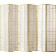 World Menagerie Trevor 70'' x 84'' Pane Shoji 6 Panel Room Divider; Ivory