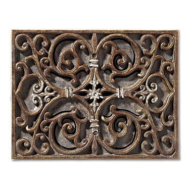 Darby Home Co Carved Scroll Work Design Door Chime in Hand Painted Renaissance Crackle