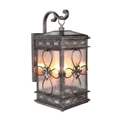 August Grove Caddy Traditional 2-Light Outdoor Wall Lantern
