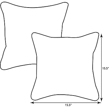 Alcott Hill Childress Corded Outdoor Throw Pillow (Set of 2); 15.5'' x 15.5''