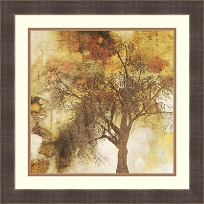 Alcott Hill 'Autumn Colored II' Framed Vintage Advertisement on Wood