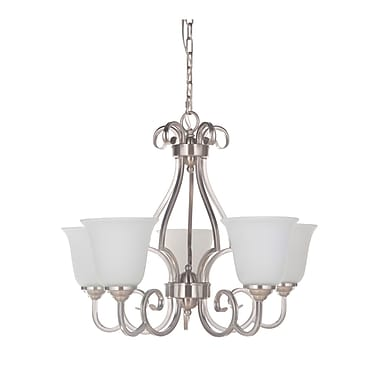 Alcott Hill Hollingshead 5-Light Bell Shaded Chandelier