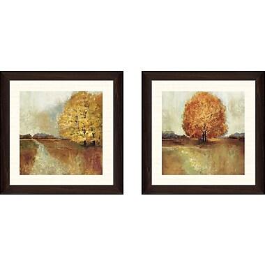 Alcott Hill 'Field of Dreams' 2 Piece Framed Acrylic Painting Print Set