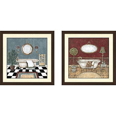 Alcott Hill 'the executive suite' 2 Piece Framed Acrylic Painting Print Set