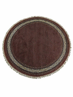 Astoria Grand Shephard Persian Hand Knotted Wool Rose Round Rug