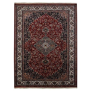 Astoria Grand Shephard Hand Knotted Persian Rectangle Wool Red Area Rug