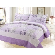 August Grove Cameron Contemporary Reversible Quilt Set; Queen
