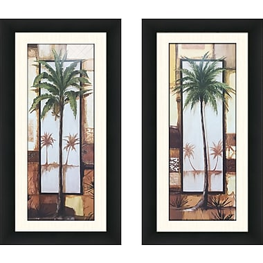 Bay Isle Home 'Island Palm I' 2 Piece Framed Acrylic Painting Print Set