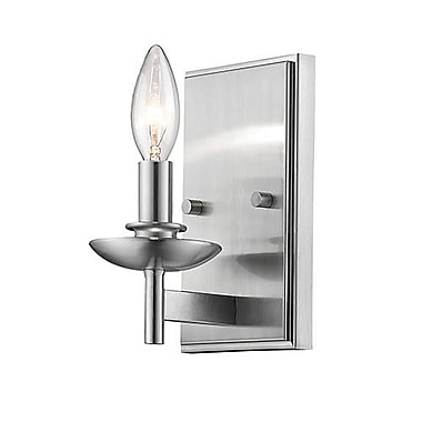 Charlton Home Noland 1-Light Candle Sconce; Satin Nickel