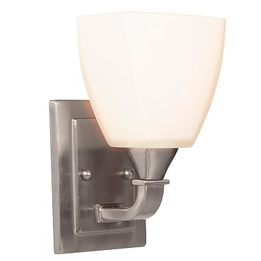 Ebern Designs Valadez 1-Light Wall Sconce; Brushed Polished Nickel