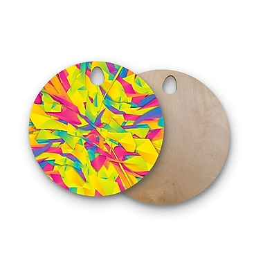 East Urban Home Danny Ivan Birchwood Bubble Gum Explosion Cutting Board; Round