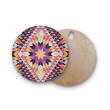 East Urban Home Danny Ivan Birchwood Ticky Ticky Cutting Board; Round