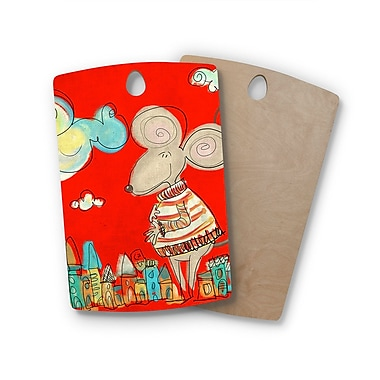 East Urban Home Carina Povarchik Birchwood Urban Mouse - Cutting Board; Rectangle