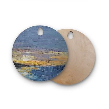 East Urban Home Carol Schiff Birchwood Caribbean Sunset Cutting Board; Round