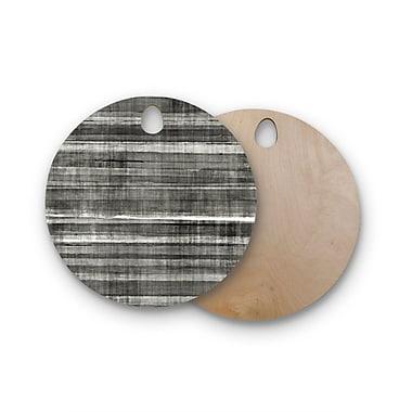 East Urban Home Carollynn Tice Birchwood Accent Dark Neutral Cutting Board; Round