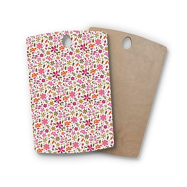 East Urban Home Carolyn Greifeld Birchwood Flowers Garden Cutting Board; Rectangle
