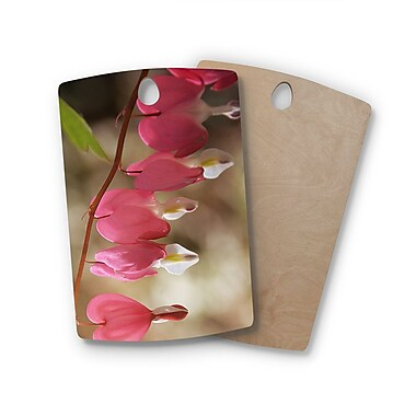 East Urban Home Angie Turner Birchwood Bleeding Hearts Flower Cutting Board; Rectangle